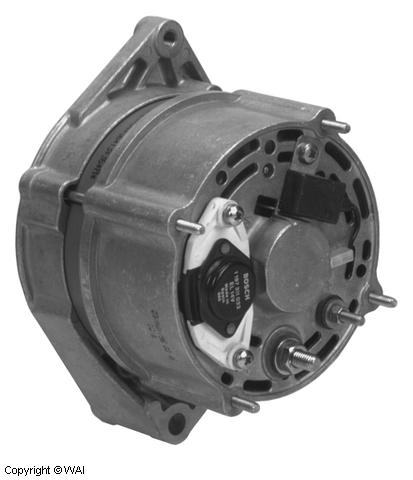 # 12161n - bosch type 65 amp alternator - 12 volt, cw, w/o pulley - used on  atlas, case, ingersoll, john deere, new holland, and thermoking vehicles
