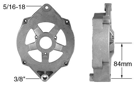 Part # 21100 - Front Housing for Delco-Remy type 10DN & 10SI Alternator  5/16-18 Mounting Ear