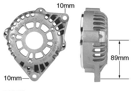 Delco Remy Alternator >> Part # 21153 - Alternator Frame, DE (Drive End) Front Housing with 10:00, 10mm Mounting Ear ...