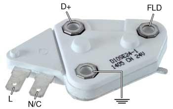 D10SE24-1  Volt Si Alternator Single Point Wiring Diagram on