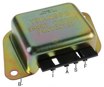 ford type alternator voltage regulators Transpo F540 Wiring Diagram f540e voltage regulator, 12 volt, b circuit, 14 2 vset, negative ground, for ford 1g series alternators