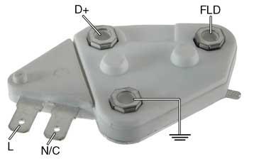 d10se6-1  Volt Si Alternator Single Point Wiring Diagram on
