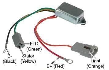 Delco Remy Alternator >> # D7016 - Voltage Regulator, 10DN Series Alternators, 12V to 24V Conversion, One-Wire (Self ...