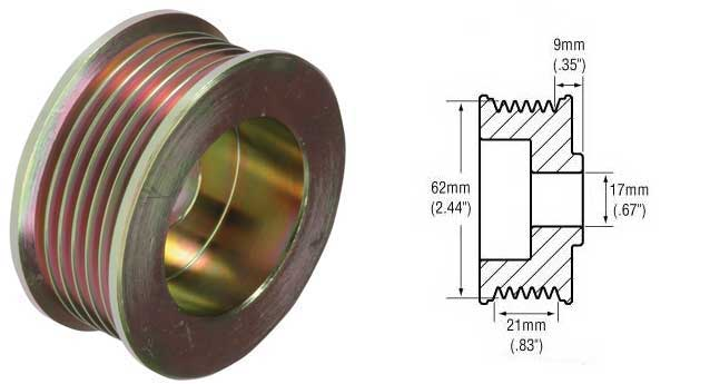 Serpentine Belt Pulley Groove Dimensions : Groove pulley for delco si cs series alternators