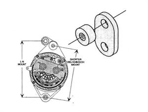 3 additionally Belt pulley kit furthermore 2 Groove V Belt besides Aj160 Alternator Conversion Bracket as well Belt pulley kit. on delco alternator pulleys