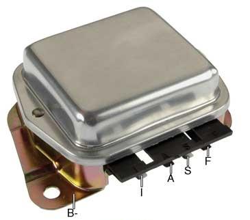 Ford type alternator voltage regulators f540xhd voltage regulator 12 volt b circuit 142 vset negative ground for ford 1g series alternators asfbconference2016 Choice Image