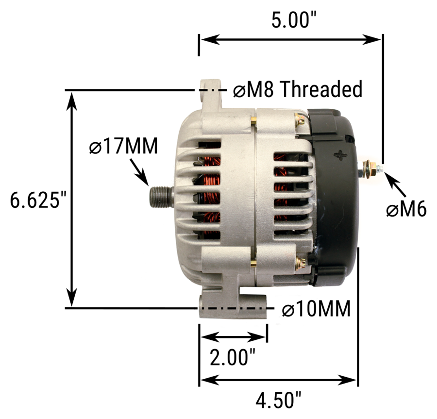 ac130 hd105 hybrid alternator  105 amp  replaces 10dn