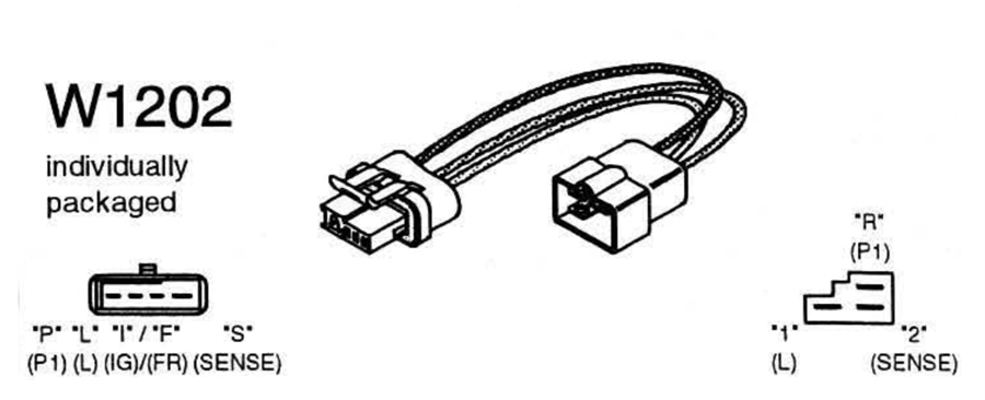 W1202 Wiring Adapter Harness 3 Pin Si Plug To 4 Pin Cs Plug on Delco Remy Voltage Regulator Wiring Diagram