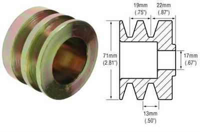 241102 - 2-Groove V-Belt Pulley