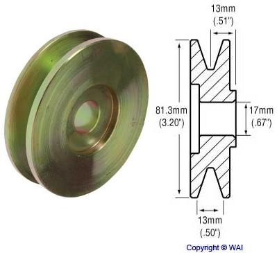 241104 - 1-Groove V-Belt Pulley