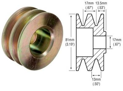 241107 - 2-Groove V-Belt Pulley