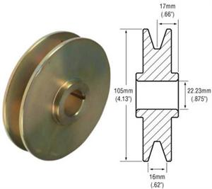 # 241503 - Pulley, 1-Groove Standard