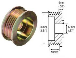 241254 - 5-Groove Serpentine Pulley