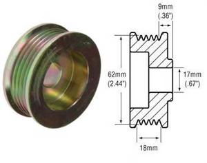 241259 - 5-Groove Serpentine Pulley