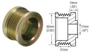 241261 - 6-Groove Serpentine Pulley