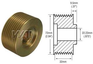 # 241750 Pulley, 9 Groove