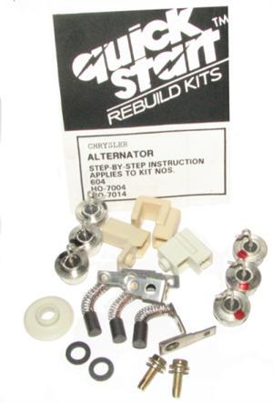 Part # 604 Chrysler (Round Back) Alternator Repair Kit, Diodes, Brushes,  etc