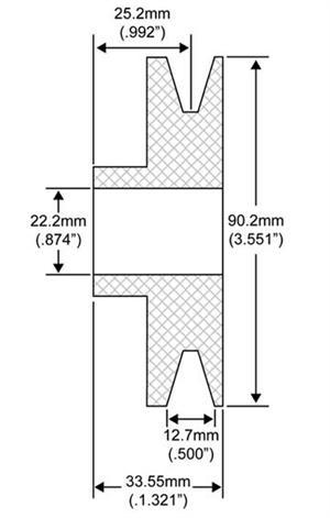Ammco bus : V belt groove dimensions