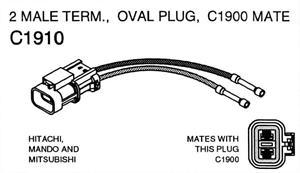 alternator wiring repair harness repair connector oval plug with 2 rh store alternatorparts com
