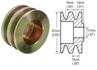 241101 - 2-Groove V-Belt Pulley