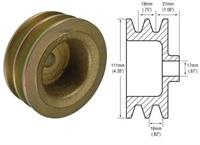241106 - Pulley, 2-Groove V-Belt