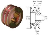241110 - 2-Groove V-Belt Pulley