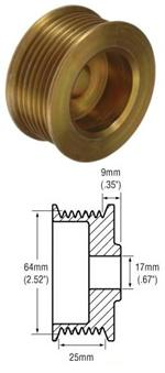 # 242262 - 7-Groove pulley,