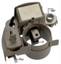 im216 voltage regulator / brush holder assy  for: mando, mitsubishi  alternators for (1989-84) dodge, ford, hyundai, mazda, mitsubishi, plymouth